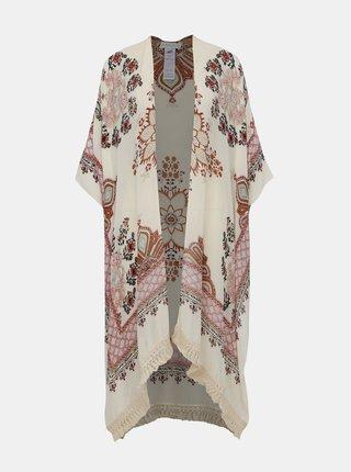 Krémové vzorované kimono Apricot
