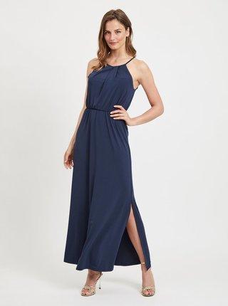 Rochie maxi albastru inchis cu dantela la spate VILA Taini