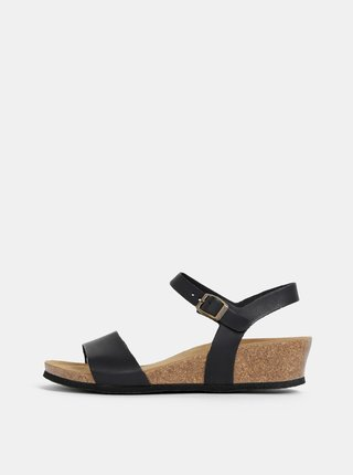Čierne sandály na kline podp OJJU