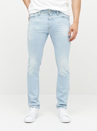 Svetlomodré slim fit rifle Jack & Jones Glenn