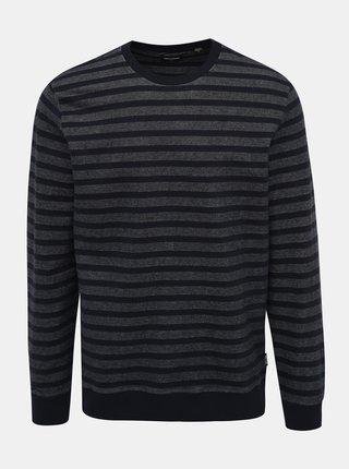 Tmavomodrý pruhovaný sveter ONLY & SONS Carlo