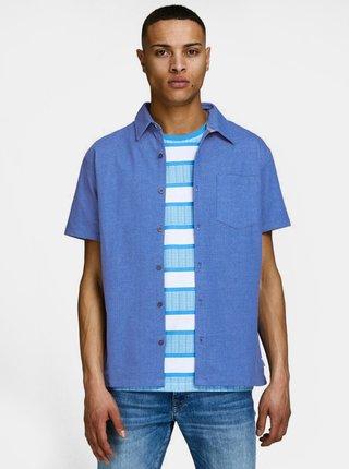 Modrá slim fit košile Jack & Jones Owen