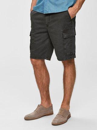 Pantaloni scurti kaki cu buzunare Selected Homme