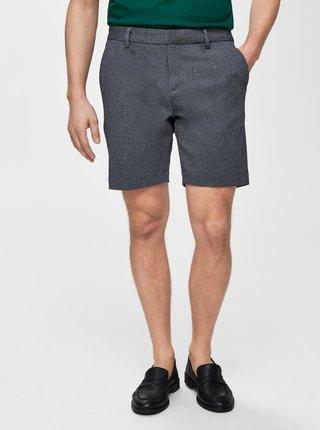 Pantaloni scurti albastri melanj chino Selected Homme Nicki