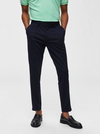 Pantaloni albastru inchis skinny fit pana la glezne Selected Homme Jersey