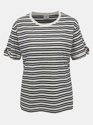 Biele pruhované tričko Jacqueline de Yong Lucky