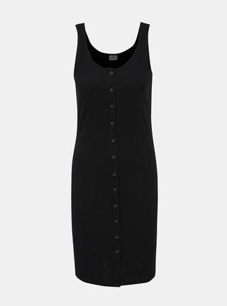 Černé žebrované šaty Jacqueline de Yong Nevada