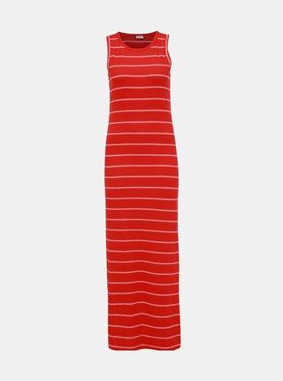 Červené pruhované žebrované maxišaty Jacqueline de Yong Nevada