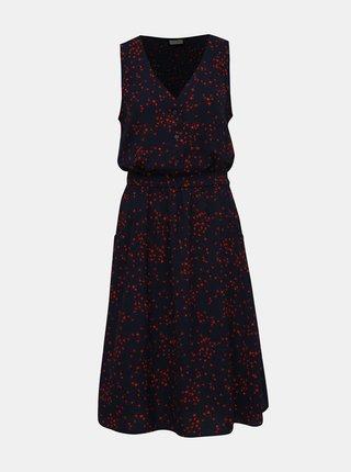 Tmavě modré vzorované šaty Jacqueline de Yong Layla