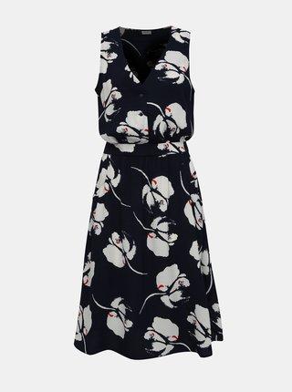 Tmavomodré kvetované šaty Jacqueline de Yong Layla
