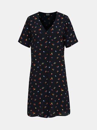 Tmavě modré vzorované šaty Jacqueline de Yong Win