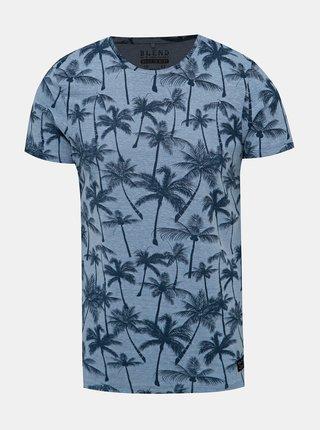 Modré vzorované tričko Blend