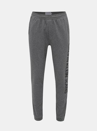 Šedé pánské tepláky Calvin Klein Jeans