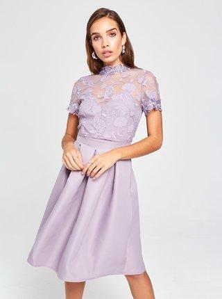 Svetlofialové šaty s krajkou Little Mistress