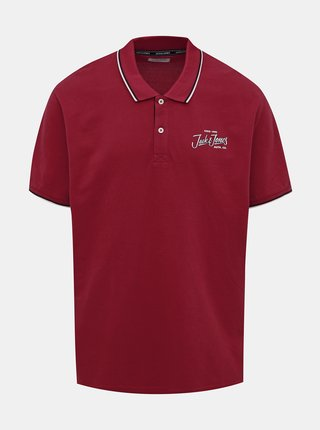 Červené polo tričko Jack & Jones Beams