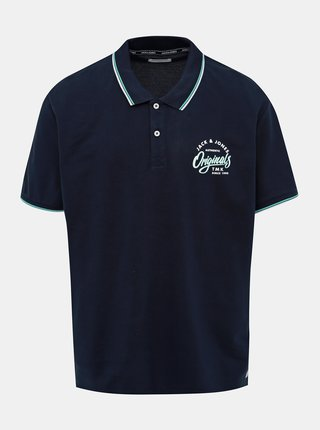 Tmavomodré polo tričko Jack & Jones Beams