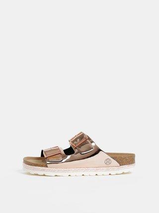 Růžové lesklé pantofle OJJU
