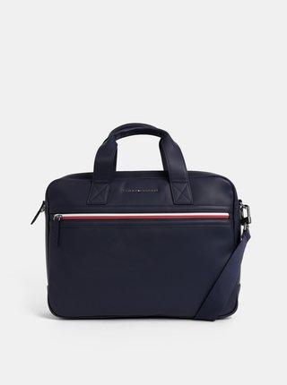 Tmavomodrá taška na notebook Tommy Hilfiger