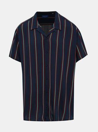 Tmavomodrá pruhovaná košeľa Jack & Jones Charlie