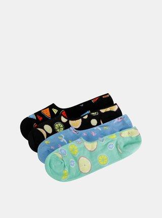 Sada štyroch parov farebných nízkych ponožiek Jack & Jones Fruit