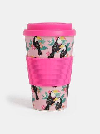 Růžový cestovní hrnek Sass & Belle