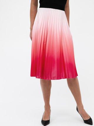 Rúžová plisovaná sukňa s ombré efektom Haily´s Amelia