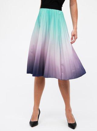 Zeleno-fialová plisovaná sukňa s ombré efektom Haily´s Amelia