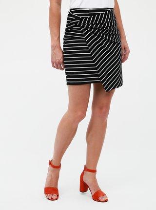 Čierna pruhovaná púzdrová sukňa Haily´s Amie