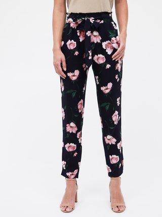 Tmavomodré dámske kvetované nohavice Haily´s Ronja