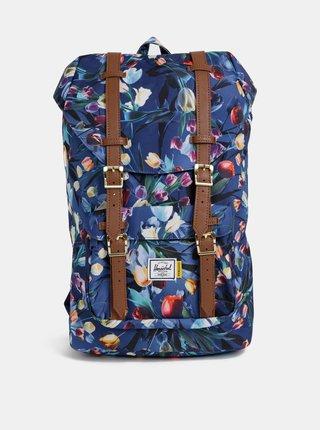 Tmavě modrý dámský květovaný batoh Herschel Lil Amer 17 l