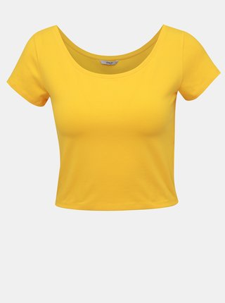 Žlutý basic crop top ONLY Live