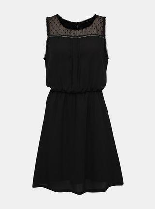 Černé šaty s ozdobnými detaily ONLY Cherry