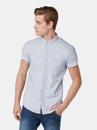 Modrá pánská vzorovaná košile Tom Tailor Denim