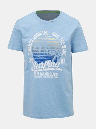 Světle modré pánské tričko Tom Tailor Denim