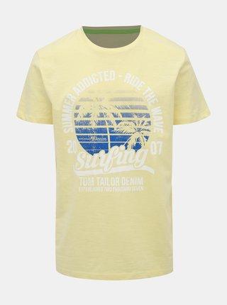 Žluté pánské tričko Tom Tailor Denim