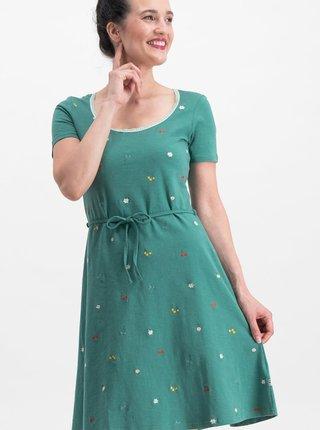 Zelené šaty s výšivkou Blutsgeschwister