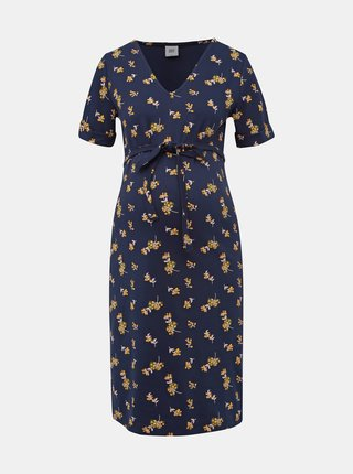 Tmavě modré těhotenské šaty Mama.licious Leva
