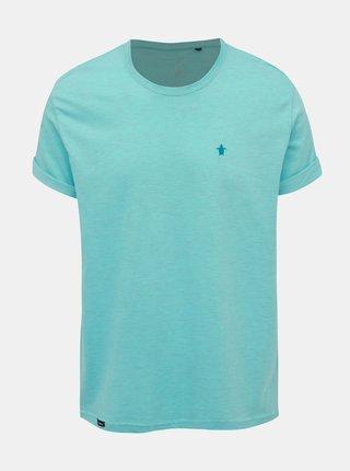 Tyrkysové žíhané tričko s výšivkou Mr. Sailor