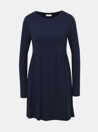 Tmavě modré volné šaty VILA Sunsita