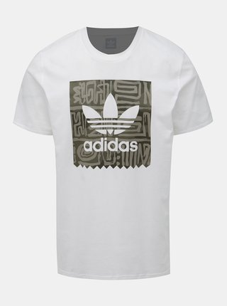 Biele pánske tričko s potlačou adidas Originals Dakari