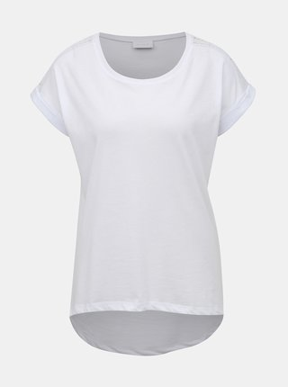 Biele tričko s krajkou VILA Dreamers
