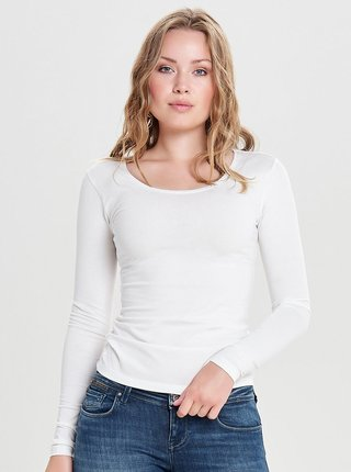 Tricou basic alb Jacqueline de Yong Ava