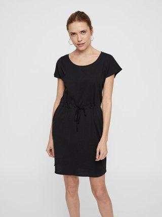 Černé basic šaty s kapsami VERO MODA April