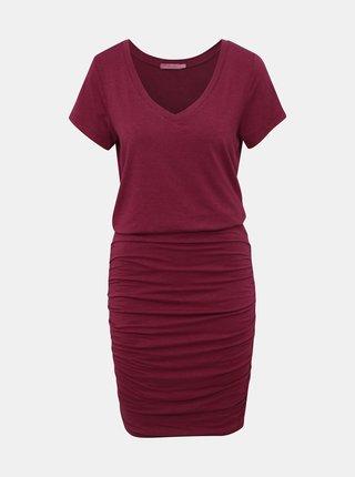 Vínové pouzdrové šaty prAna Foundation