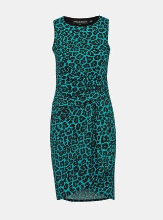 Čierno-zelené šaty s leopardím vzorom Billie & Blossom