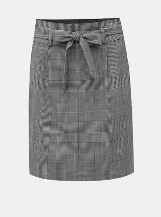 Šedá kostkovaná sukně VERO MODA Eva