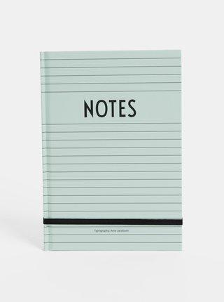 Mentolový zápisník Design Letters Notes A5