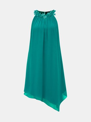 Tmavě zelené asymetrické šaty Dorothy Perkins
