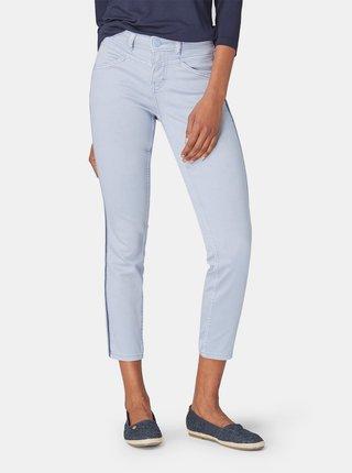 Světle modré dámské zkrácené slim fit džíny Tom Tailor