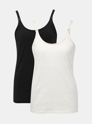 Sada dvoch tielok na dojčenie v bielej a čiernej farbe Mama.licious Kea